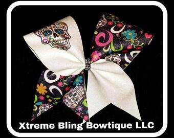 Cheer Bow --Sugar Skull Cheer Bow
