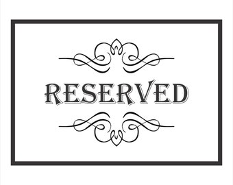 Reserved order for Briah