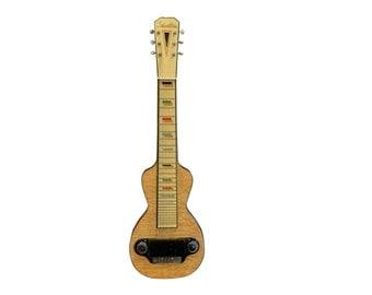 1930s Silvertone Lap Steel Guitar, Vintage Birdseye Maple Musical Instrument