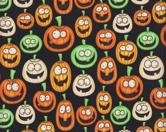 RJR Dan Morris A Haunting We Will Go 1983 2 Black with Smiling Pumpkins by the yard