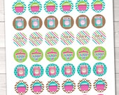 """Laundry Planner Stickers Instant Download Printable Chore Stickers PDF 1"""" Circle Stickers for Calenders Planners & Home"""