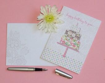 Birthday Card with Matching Envelope / Designer Greeting Card / Single Card / Diane Kappa