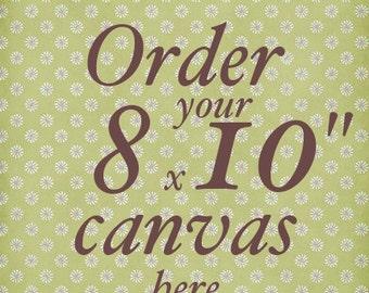 Canvas 8x10in - baby room decor - kids art - nursery decor - nursery wall art boy girl - playroom