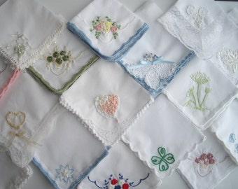 Irish Men's Wedding Shamrock Formal Keepsake Handkerchief Boutonniere Shamrock Satin Border Thirteen Inch Square Handmade by handcraftusa