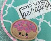 "Donut Worry, Be Happy Hoop Art 5"""