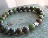 Earthy Green-Brown Unisex Stretch Bracelet