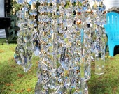 Antique Crystal Wind Chime, Crystal Medley Wind Chime, Window Decor, Outdoor Decor