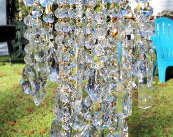 Antique Crystal Wind Chime, Crystal Medley Wind Chime On Hold