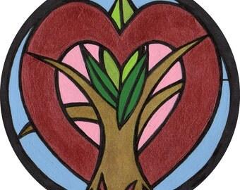 ordinary love 4 inch sticker