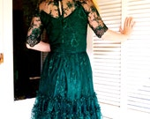 Emerald green Lace dress - Custom Length