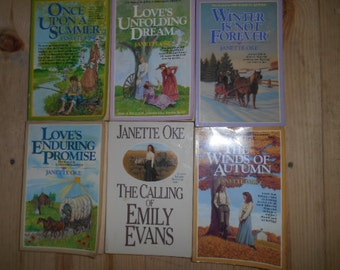 Lot of 6 Vintage Janette Oke books