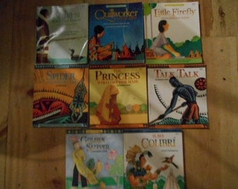 Lot of 8 vintage series childrens books Native American Legends, Legends of the World FREE s/h