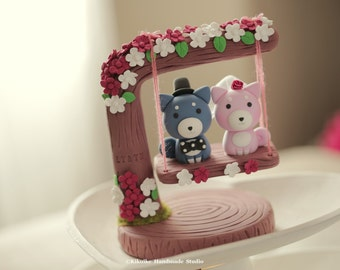 Shiba Inu Wedding Cake Topper, dogs cake topper