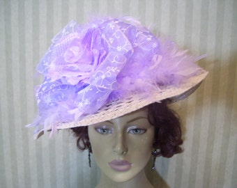 Kentucky Derby Hat Preakness Hat Easter Hat Tea party Hat Ascot Hat Belmont Hat Church Hat By Ms.Purdy