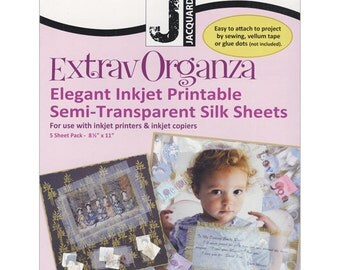 ExtravOrganza pkg of 5 printable silk sheets