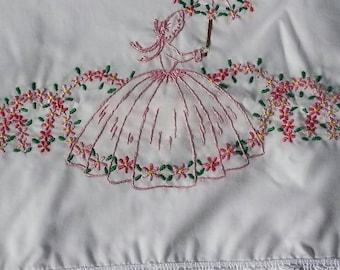 Sew Pretty Pillowcases - Girl with Umbrella - Set of 2