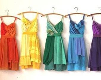 Individual Deposits for Kendra Shanley's Custom Rainbow Bridesmaids Dresses