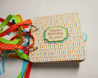 Birthday Mini Scrapbook Album, Birthday Chipboard Album, Birthday Scrapbook, Birthday Mini Album, Birthday Photo Album, BirthdayBook