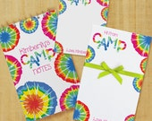 Tie-Dye Camp Stationery Set with Notepad, Cards and Journal