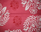 Amy Butler Temple Flowers Wedding Red White fabric | Cotton Quilting fabric | Last piece