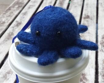 Royal blue octopod on hanging loop