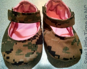 Sale: Use 15Off coupon to get 15% off, USMC Military Camouflage Mary Jane Baby Shoes