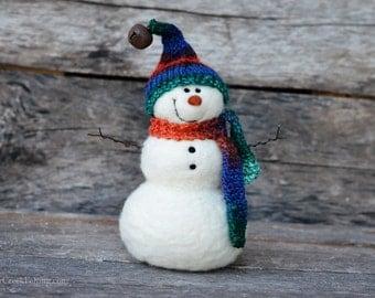 Needle Felt Snowman - Needle Felted Snowman - Christmas Snowman - Christmas Decoration - Christmas Decor -  Wool Snowman - Winter Décor -769