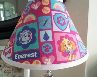 Lamp Shade Paw Patrol Skye and Everest
