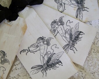 Handmade French Gift Tags Vintage Fairy Tags Shabby White Tags Vintage White Decor Cottage Style Shabby White Decor All Occasion Tags