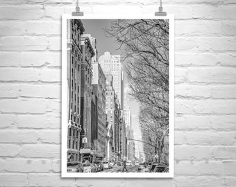 Upper West Side, New York Photography, Central Park Photo, Black and White, Urban Art, Manhattan Print, Vertical Art, Street Art, Handmade
