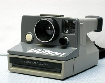 "Film Tested Vintage Polaroid ""The Button""  Instant Film Camera for SX-70 Film"