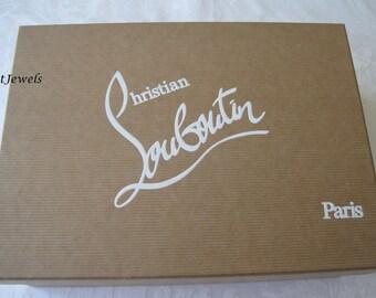 Christian Louboutin Box, Christian Louboutin Shoe Box, Brown Box, Storage Box, Gift Box 11x7x3.75