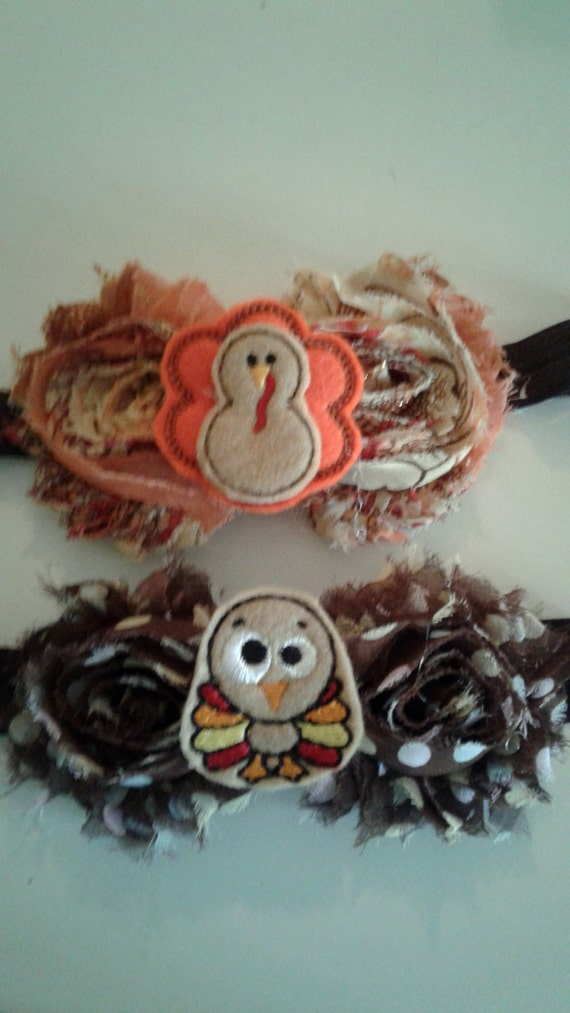 Thanksgiving Headbands, Handcrafted, Fall Headbands, Autumn Headbands, Turkey Headbands, Baby Headbands,Toddler headbands,Girls  Bands