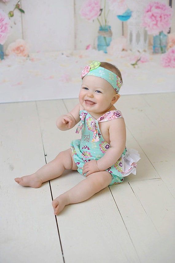 Baby Romper - Baby Girls Easter Outfit