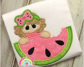 Watermelon Cutie Girls Shirt - Watermelon Shirt- Summer Shirt - Girls Shirt - Watermelon - Personalization Available