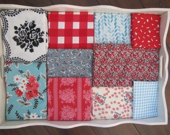 Buffalo Check and Flowers Patchwork and Minky Blanket Made to Order