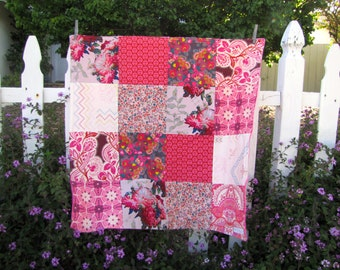 32x32 Anna Maria Horner Mod Corsage Baby Blanket Ready to Ship