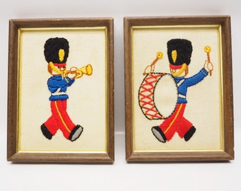 Toy soldiers needlework picture