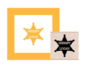 Sheriff Badge Personalized Rubber Stamp