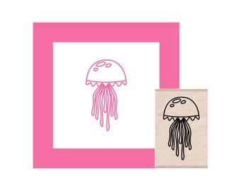 Jellyfish Rubber Stamp