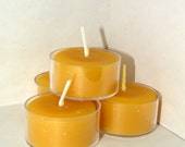 All Natural Essential U Beeswax Tea Light Candles    -   100 Percent Pure Beeswax   -   Buy A Set Of Three, Eight,  Ten or Twenty
