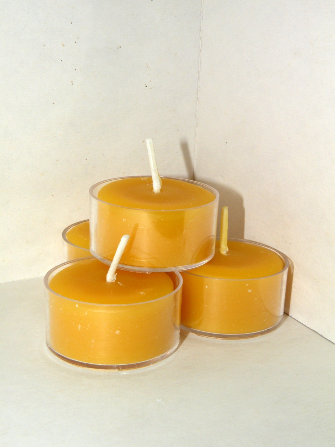 Beeswax Tea Light Candles 100 % Pure Beeswax The More You