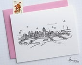 Cincinnati, Ohio - United States - City Skyline Series - Folded Cards (6)
