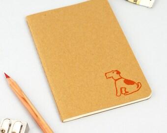Terrier Moleskine Notebook - Dog Journal - Dog Notebook - Terrier Notepad - Dog Stationery - Moleskin Cahier - Gocco