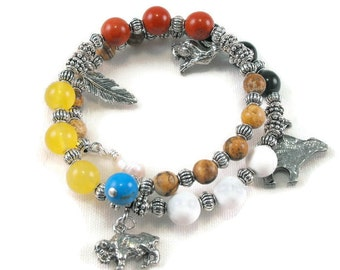Medicine wheel bracelet