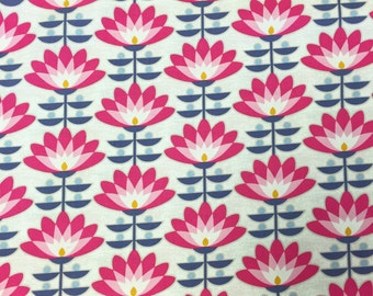 Joel Dewberry Fabric by the Yard - Atrium - Deco Bloom in Fuchsia - Quilter's Cotton