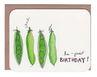 Ha-pea Birthday Card with envelope