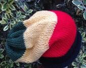 Custom Order for David. Rasta Slouchy knit hat.
