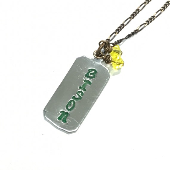 NDSU Bison Hand Stamped Necklace