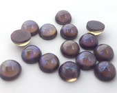 6 Pieces Preciosa Czech Glass Round Cabochons-Tanzanite Opal 9mm (168409OPTANZ) (B-19-21)